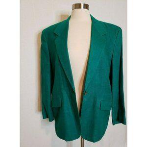 Vintage Blazer Jacket Oversized 100% Linen 80s